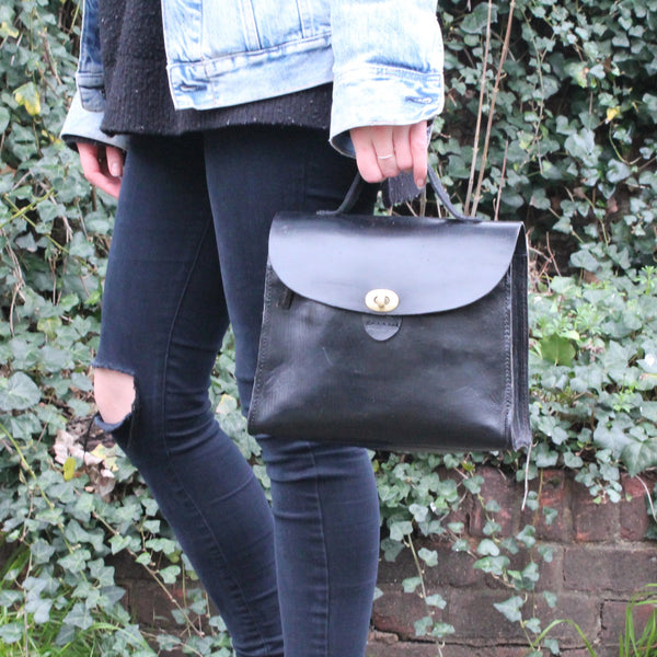 Vicky Handbag - Black-ISMAD LONDON