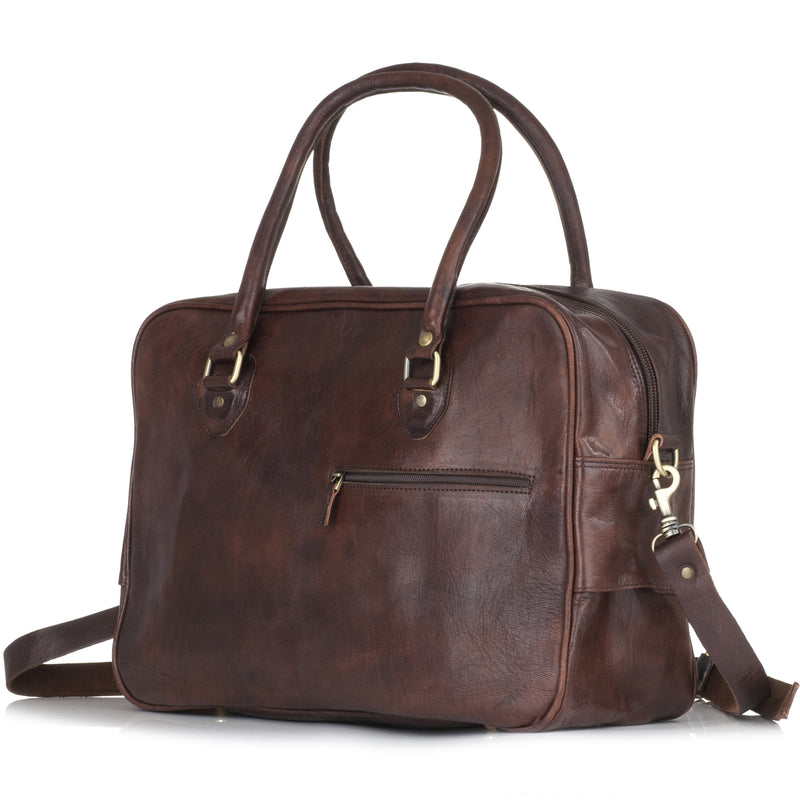Fred Overnight Bag - Chocolate-ISMAD LONDON