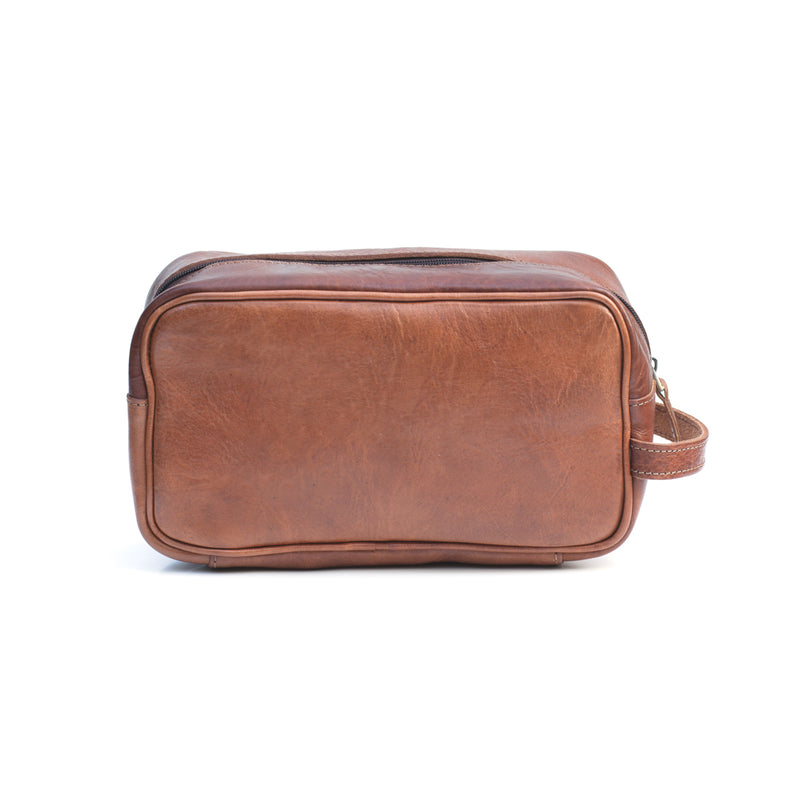 Max Leather washbag