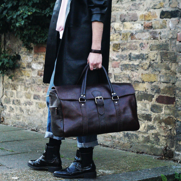 Ismad Travel Bag - Chocolate-ISMAD LONDON