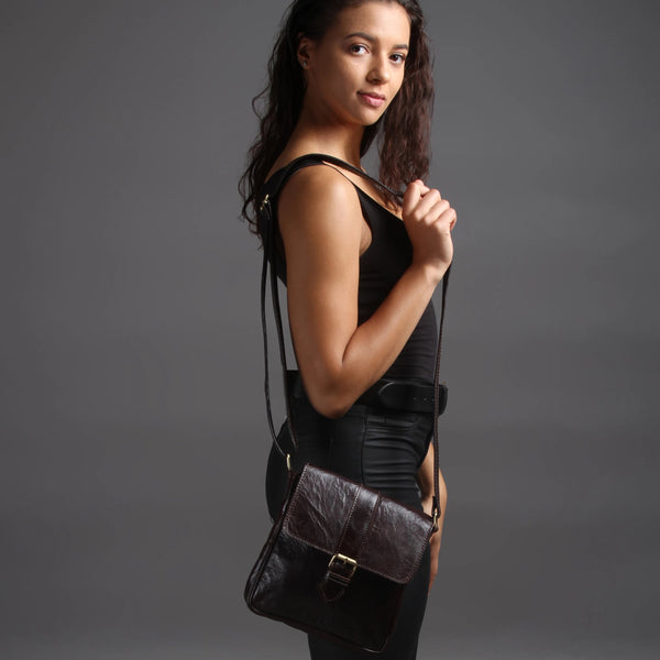 Jacque Crossbody - Chocolate-ISMAD LONDON