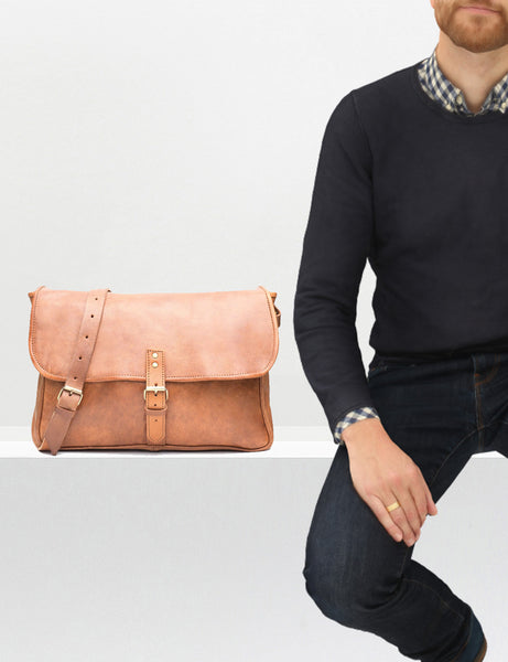 Jackson Messenger Bag - handmade leather bags smadlondon
