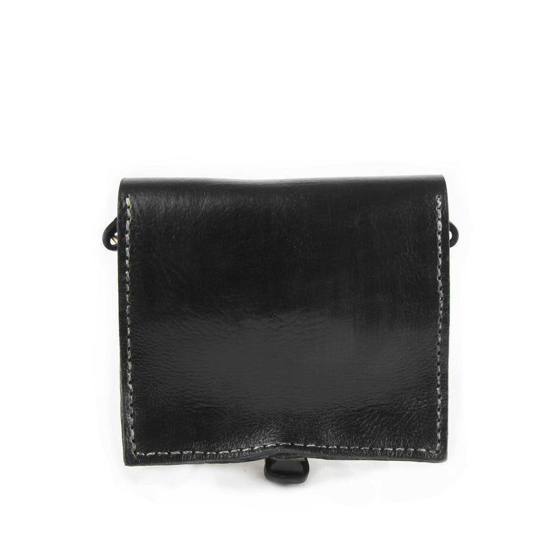 Jessie Black Small Messenger Leather Bag