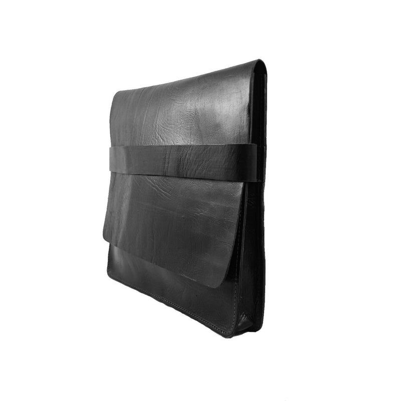 Leather computer case - Black