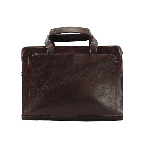 Marvin Laptop Leather Messenger bag - ismadlondon