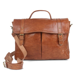 Oxford Briefcase - Tan-ISMAD LONDON