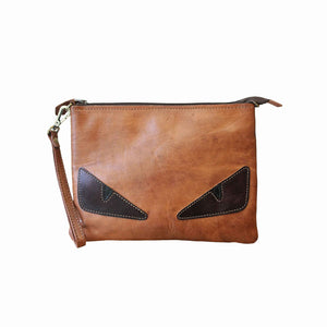 Peekaboo Leather Pouch - handmade leather bags smadlondon