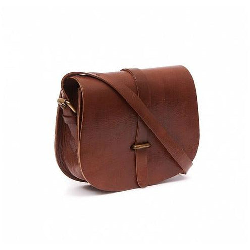 Medium Sam Loop Saddle Bag - Tan-ISMAD LONDON