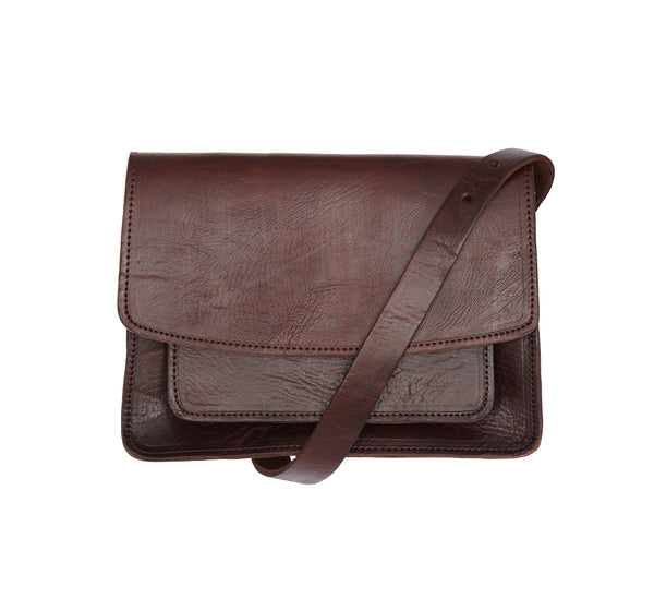 Medina Shoulder Bag - Chocolate-ISMAD LONDON