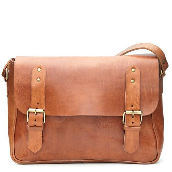 Paul Messenger Bag - Tan-ISMAD LONDON