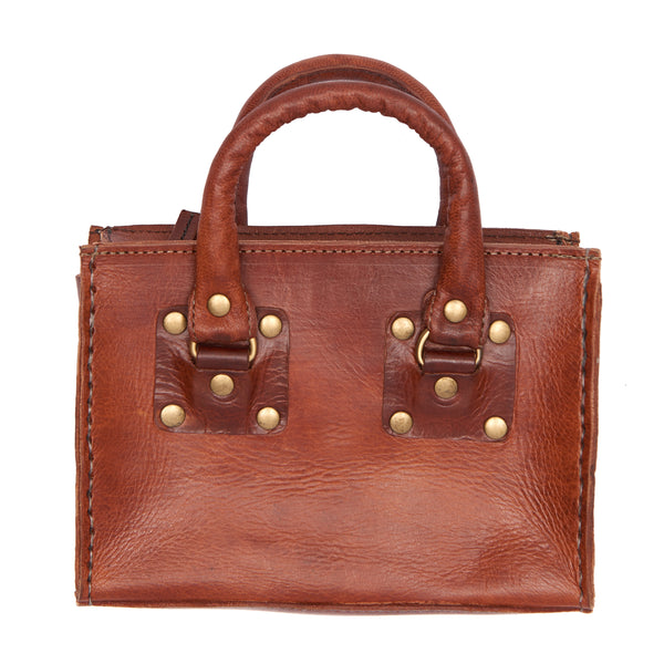 Box handbag - Tan - Ismad London Handheld