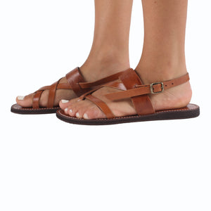 Bzime Leather Sandals - handmade leather bags smadlondon
