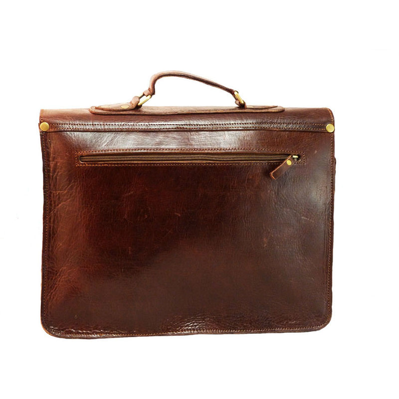 Spitalfields Briefcase - Chocolate-ISMAD LONDON