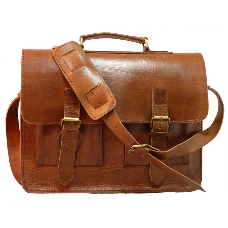 Spitalfields Briefcase - Tan