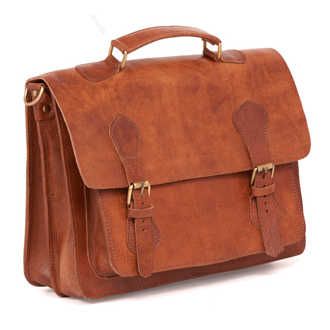 Kevin 3-in-1 Briefcase - handmade leather bags smadlondon