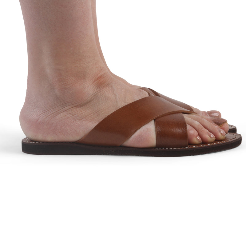Ladies Cross Sandals-ISMAD LONDON