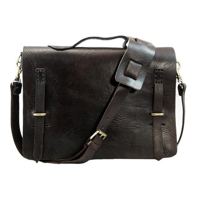 Camden Loop Briefcase - Chocolate-ISMAD LONDON