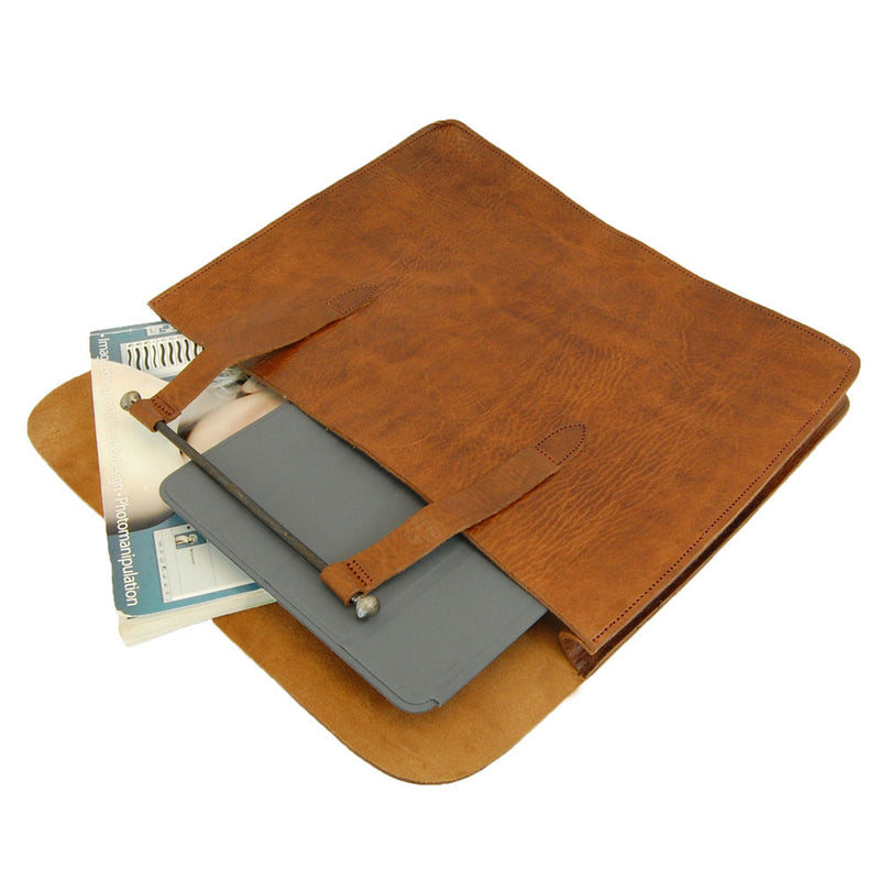Document Holder Bag - Tan