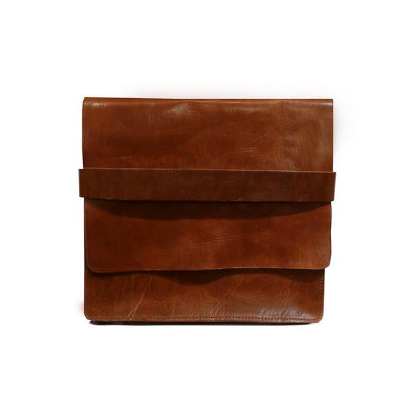 Leather computer case - Tan