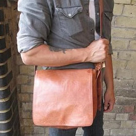 Small Harley Reporter Bag - Tan-ISMAD LONDON