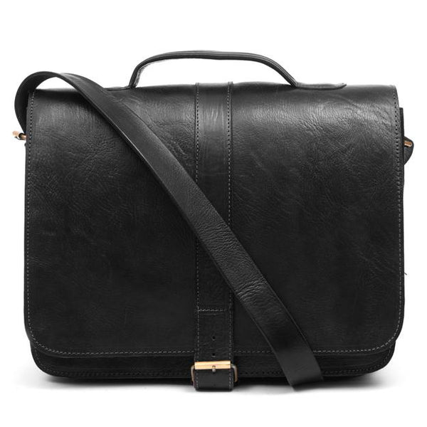 Darwin Briefcase - Black-ISMAD LONDON