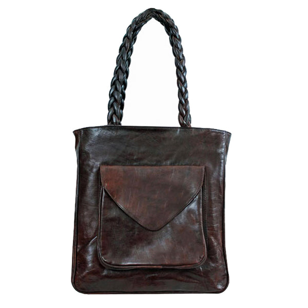 ethical leather tote