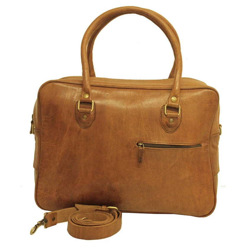 Fred Overnight Bag - Tan-ISMAD LONDON
