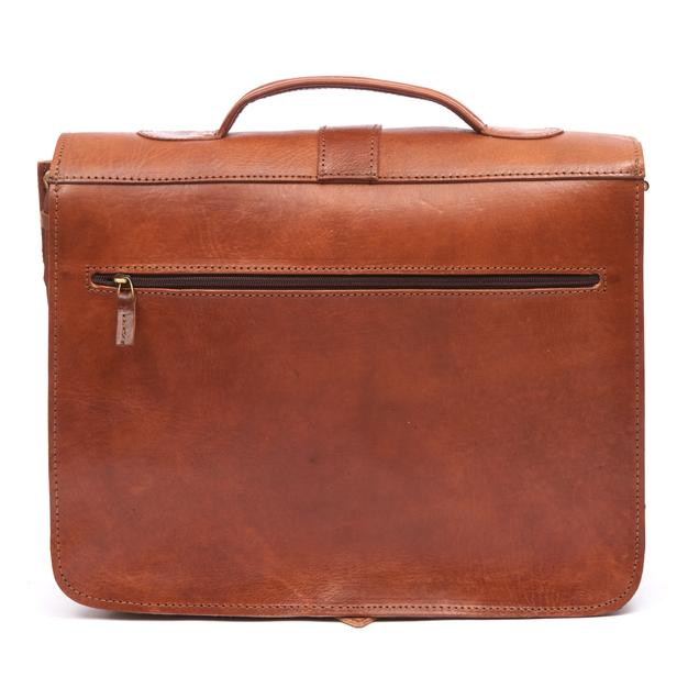 Darwin Briefcase - Tan-ISMAD LONDON