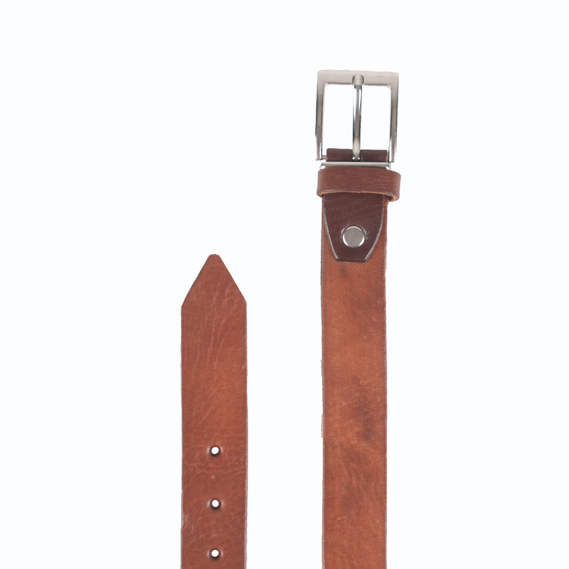 Jeans Leather Belt - handmade leather bags smadlondon