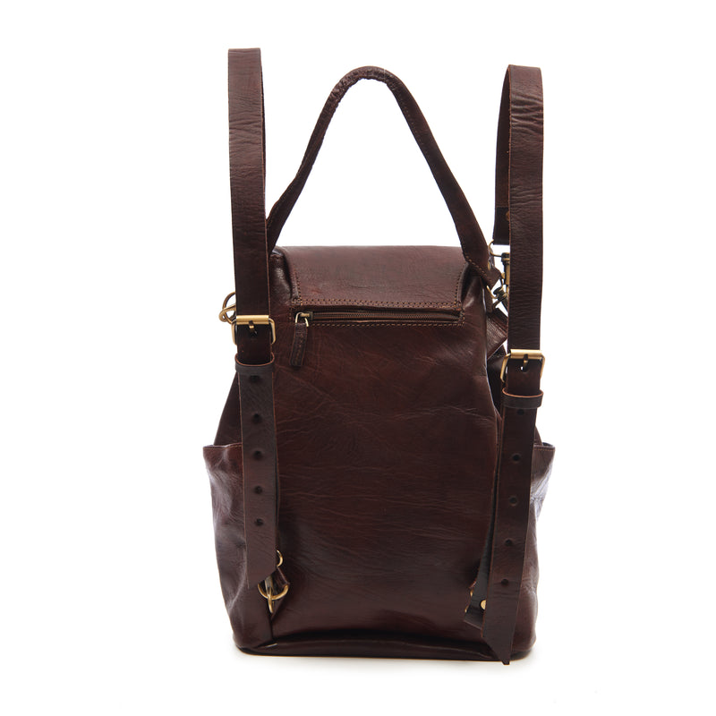 Laura 2-in-1 Backpack - Chocolate