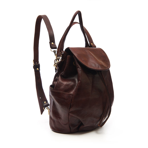 Laura 2-in-1 Backpack - Chocolate-ISMAD LONDON