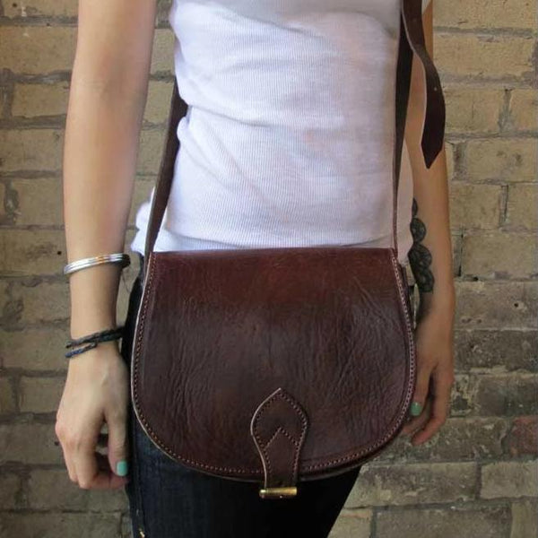 Medium Sam Saddle Bag - Chocolate-ISMAD LONDON