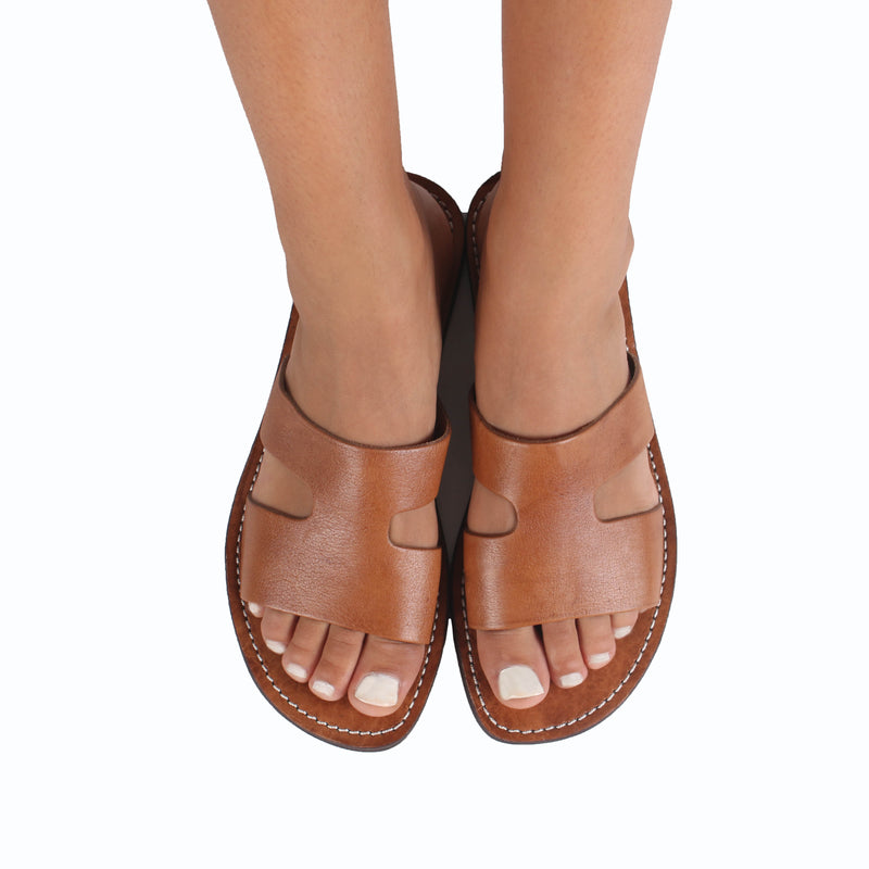 Sabo Leather Sandals - handmade leather bags smadlondon