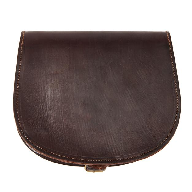 Medium Sam Saddle Bag - Chocolate