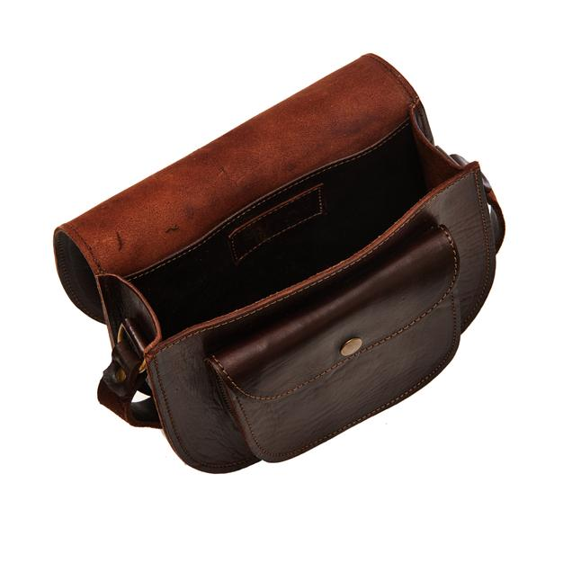 Small Sam Saddle Bag - Chocolate