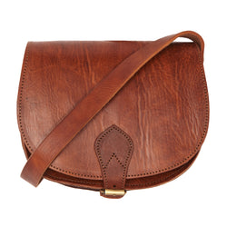 Medium Sam Saddle Bag -Tan