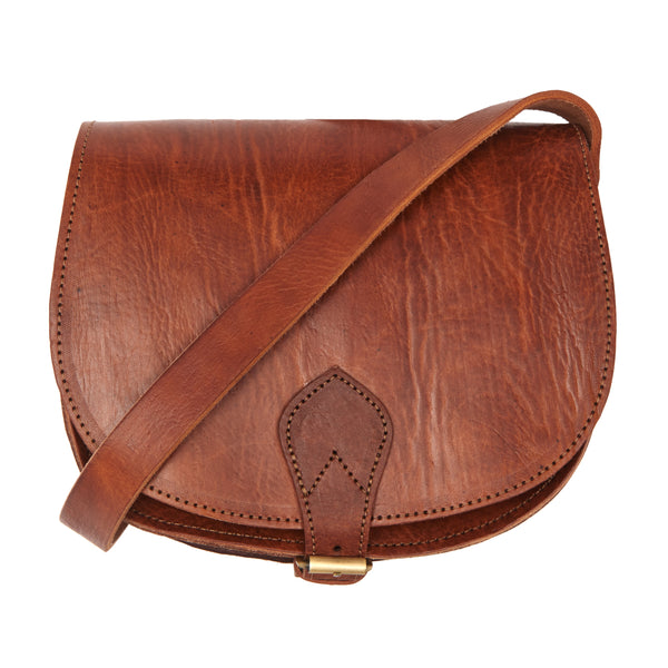 Medium Sam Saddle Bag -Tan-ISMAD LONDON
