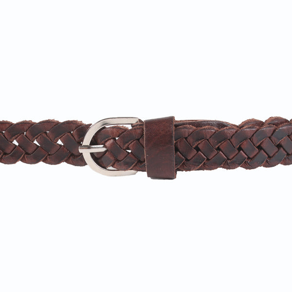 £10.00 - Skinny Woven Leather Belt