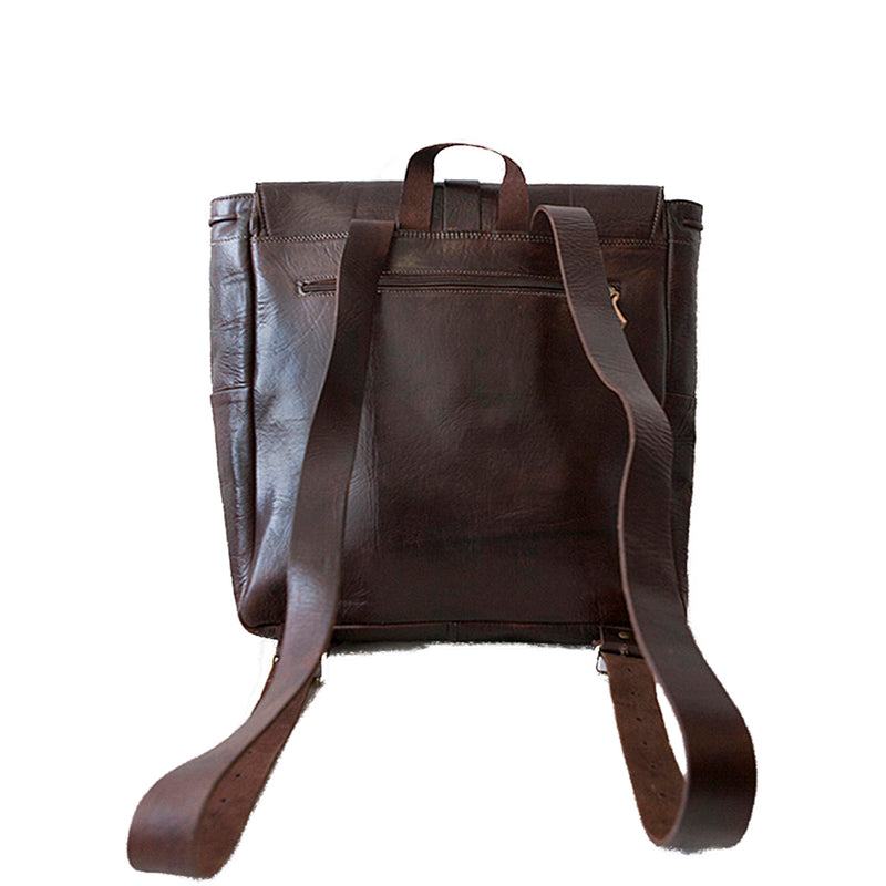 Square Backpack -Chocolate-ISMAD LONDON
