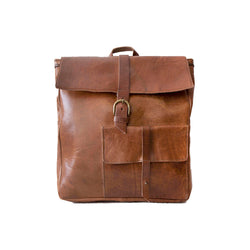 Square Backpack -Tan
