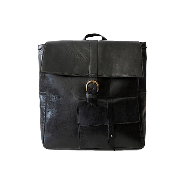 Square Backpack - Black