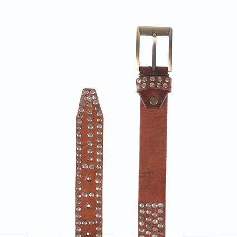 £39.00 - Studded Rivets Leather Belt