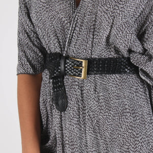 Woven Leather Belt - handmade leather bags smadlondon