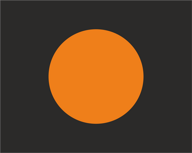 Black with Orange Disc 'MECHANICAL FAILURE' Road Race Flag