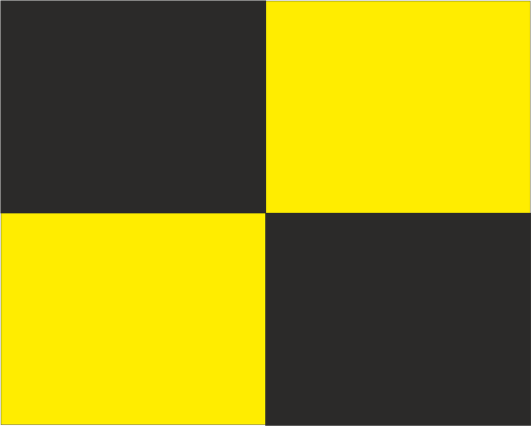 Black and Yellow Quarters 'SLOW/NO OVERTAKING' Road Race Flag