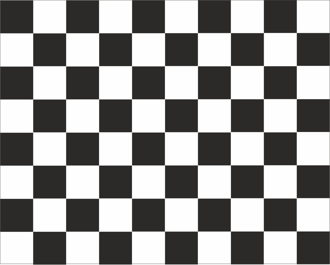 Chequered  'FINISH' Road Race Flag