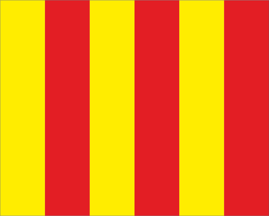 Red and Yellow Stripe 'OIL/ADHESION' Motocross Flag