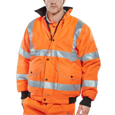Orange Hi-Viz Breathable Bomber Jacket