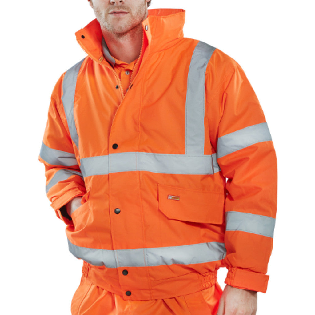 Orange Hi-Viz Value Bomber Jacket