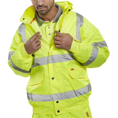 Yellow Hi-Viz Value Bomber Jacket
